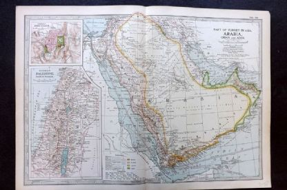 Encyclopaedia Brittannica 1903 Antique Map. Arabia, Oman and Aden